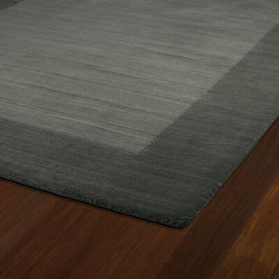 Attles Solid Charcoal Area Rug Rug Size: Rectangle 8 x 10
