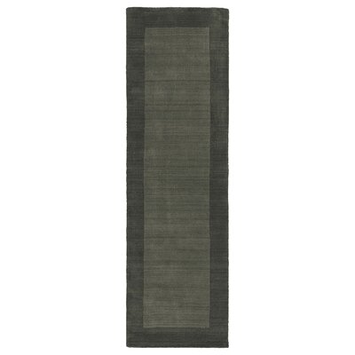 Attles Solid Charcoal Area Rug Rug Size: Runner 26 x 89