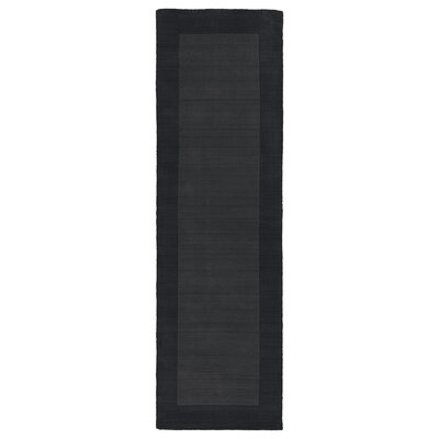 Attles Black Solid Kids Carbon Grey Rug Rug Size: Runner 26 x 89