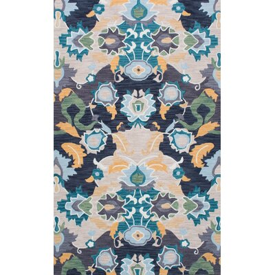 Newland Hand-Tufted Navy Area Rug Rug Size: 76 x 96
