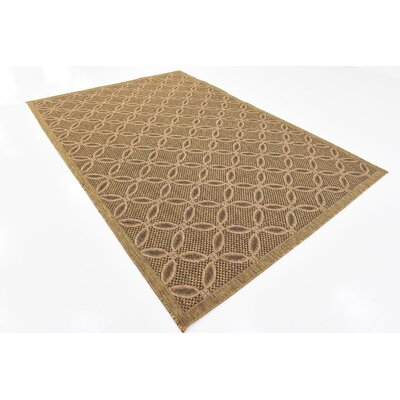 Brayton Light Brown Outdoor Area Rug Rug Size: 6 x 9