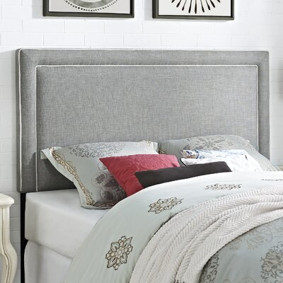 Bearse Upholstered Panel Headboard Upholstery: Dove Gray