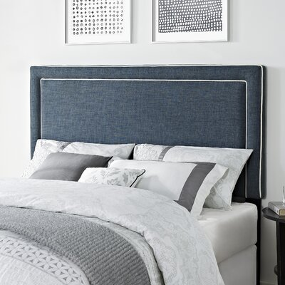 Bearse Upholstered Panel Headboard Upholstery: Indigo Blue