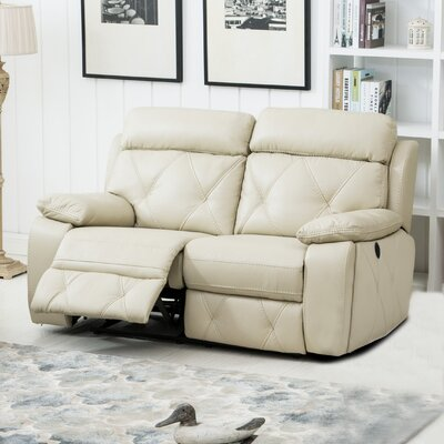 Buchanan Reclining Loveseat Color: Beige