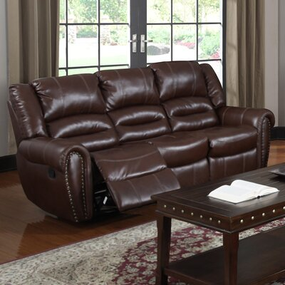 Red Barrel Studio RDBS9349 Brady Leather Reclining Sofa