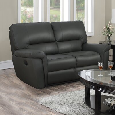 Burrell Leather Reclining Loveseat
