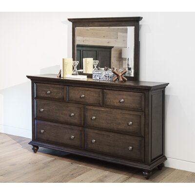Dezirae 7 Drawer Double Dresser with Mirror