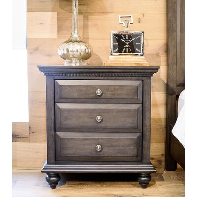Dezirae 3 Drawer Nightstand