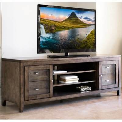 Dezirae TV Stand Color: Weathered Oak