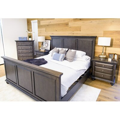 Brown Panel 4 Piece Bedroom Set Size: Queen