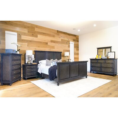 Brown Platform 6 Piece Bedroom Set Size: Queen