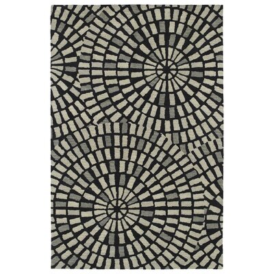 Beatrice Hand Tufted Black/Gray Area Rug Rug Size: 8 x 11