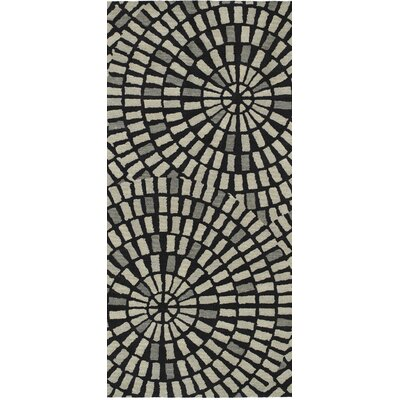Marut Hand Tufted Black/Gray Area Rug Rug Size: Rectangle 2 x 3