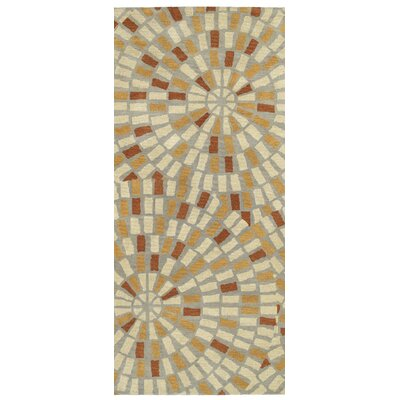 Beatrice Hand Tufted Beige/Brown Area Rug Rug Size: Runner 26 x 8