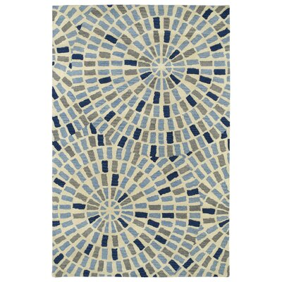 Beatrice Hand Tufted Blue/Beige Area Rug Rug Size: 2 x 3