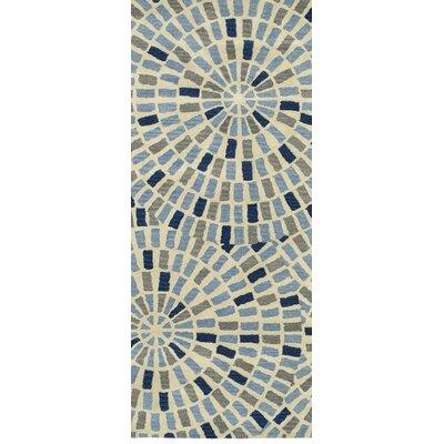 Marut Hand Tufted Blue/Beige Area Rug Rug Size: Runner 26 x 8