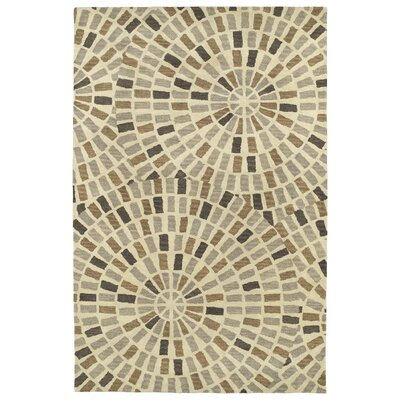 Beatrice Hand Tufted Brown/Beige Area Rug Rug Size: 36 x 56
