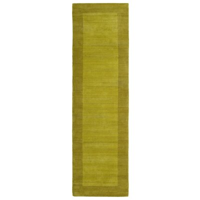 Barnard Hand Tufted Green Area Rug Rug Size: Runner 26 x 89