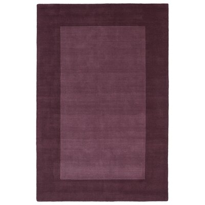 Barnard Hand Tufted Purple Area Rug Rug Size: 3'6