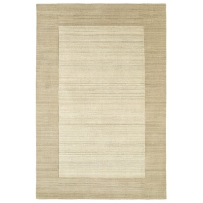 Barnard Hand Tufted Beige Area Rug Rug Size: Rectangle 36 x 53
