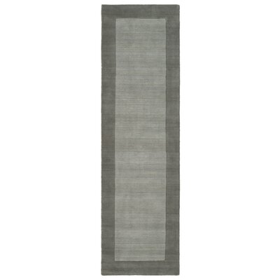 Barnard Hand Tufted Gray Area Rug Rug Size: Runner 26 x 89