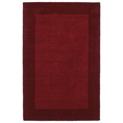 Barnard Red Area Rug Rug Size: 36 x 53