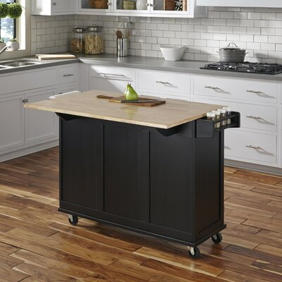 Kuhnhenn Kitchen Island Base Finish: Black