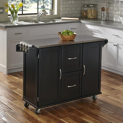 Lomas Kitchen Island Base Finish: Black