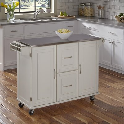 Chaucer Kitchen Island Base Finish: White