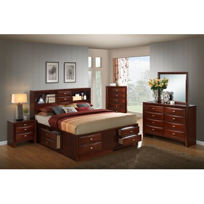 Plumcreek Storage Panel 5 Piece Bedroom Set Size: King