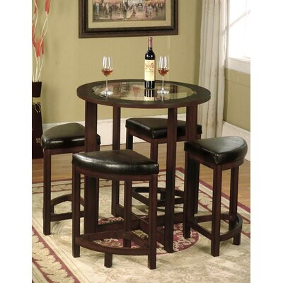 Plumwood 5 Piece Counter Height Dining Set