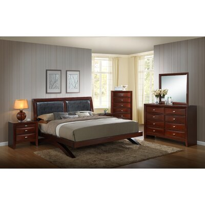 Plumcreek Panel 5 Piece Bedroom Set Size: Queen