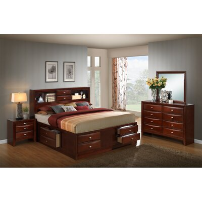 Plumcreek Storage 4 Piece Bedroom Set Size: King
