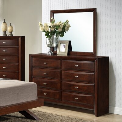 Plumcreek 8 Drawer Dresser with Mirror