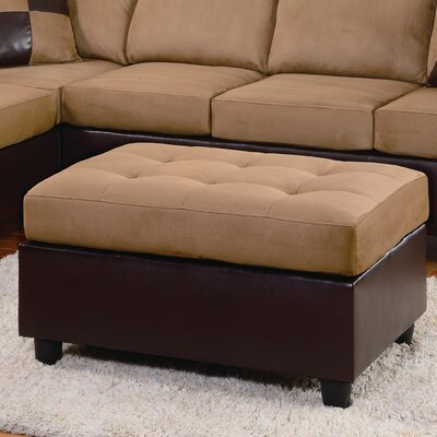 Brookdale Cocktail Ottoman Upholstery: Brown