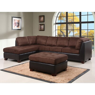 Pocono Sectional Upholstery: Brown