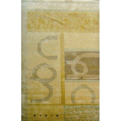 Pomeroy Himalayan Sheep Gold Area Rug Rug Size: 9 x 12