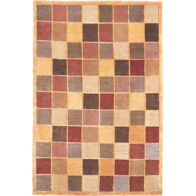 Bean Sheep Checkered Area Rug Rug Size: Round 4