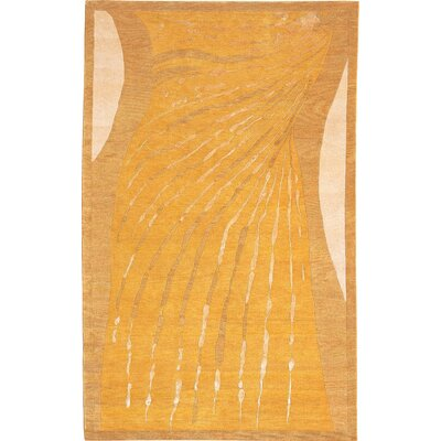 Ponteland Gold Tibetan Himalayan Sheep Indoor / Outdoor Area Rug Rug Size: Round 5