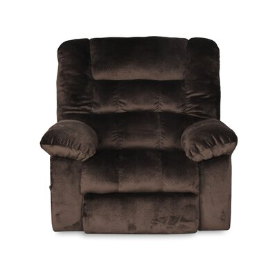 Prenda Oversized Rocker Swivel Recliner Color: Chocolate