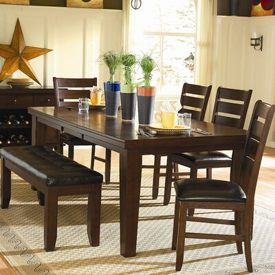 Bannister Dining Table Size: 30 H x 42 W x 64 - 82 D