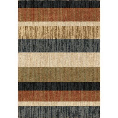 Diamondine Blue/Beige/Green Area Rug Rug Size: 53 x 76