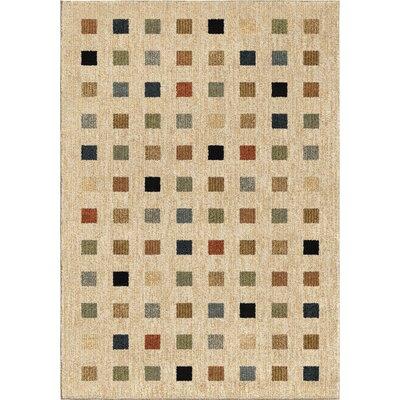 Anasa Beige Area Rug Rug Size: 71 x 101