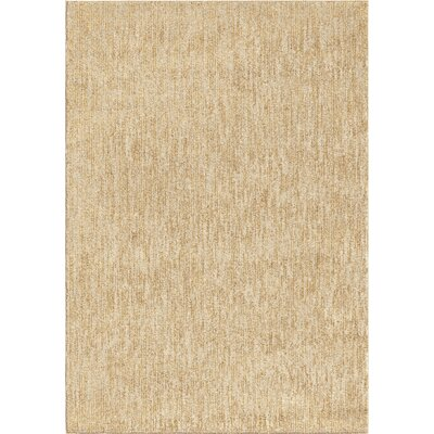 Anasa Beige Area Rug Rug Size: 53 x 76