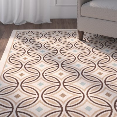 Greenlaw Cream/Chocolate Area Rug