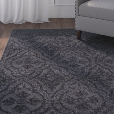 Michigan Black Area Rug Rug Size: 52 x 76