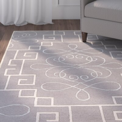 Haggerty Hand-Tufted Gray/Cream Area Rug Rug Size: Rectangle 8' x 10'6