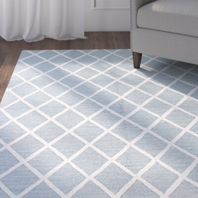 Prince Hand-Tufted Light Blue Area Rug Size: Runner 26 x 8