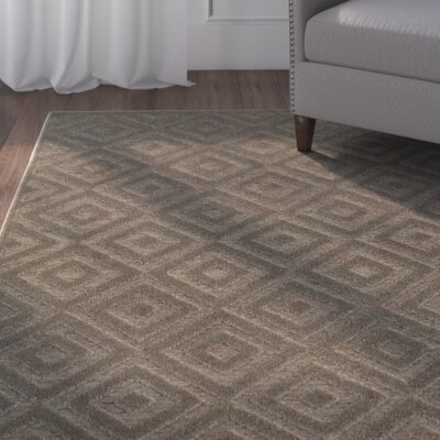 Maryport Brown/Gray Area Rug Rug Size: 52 x 76
