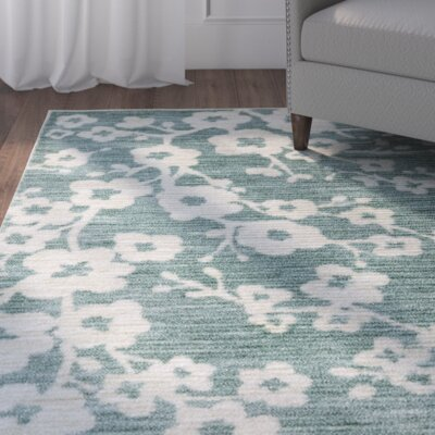 Stokes Burbank Blossom Teal Area Rug Rug Size: Rectangle 5 x 8
